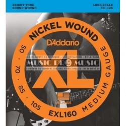 D'Addario EXL160 - Jeu de cordes pour basse 50-105