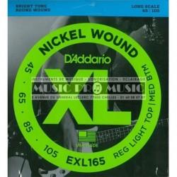 D'Addario EXL165 - Jeu de cordes pour basse 45-105