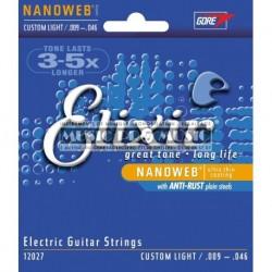 Elixir 12027 - Jeu de cordes Nanoweb 9-46 pour guitare électrique