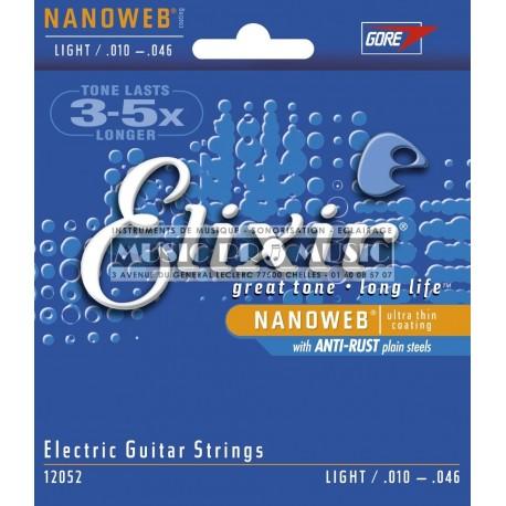 Elixir 12052 - Jeu de cordes Nanoweb 10-46 pour guitare électrique