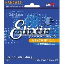 Elixir 12077 - Jeu de cordes Nanoweb 10-52 pour guitare électrique