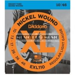 D'Addario EXL110 - Jeu de cordes 10-46 pour guitare électrique