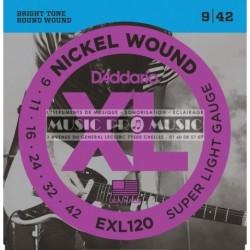 D'Addario EXL120 - Jeu de cordes 9-42 pour guitare électrique