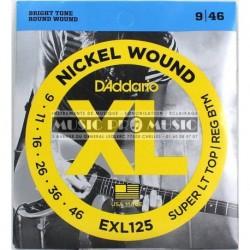 D'Addario EXL125 - Jeu de cordes 9-46 pour guitare électrique