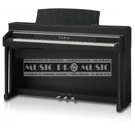 Kawai CA-67B - Piano numérique noir satiné avec meuble