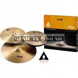 """Stagg AXK-SET - Set de cymbales en alliage """"cuivre et acier"""" Innovation"""