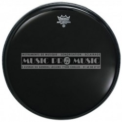 "Remo ES-0016-00 - Peau 16"" Ebony Transparent"