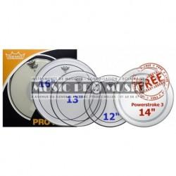 "Remo PP-0312-PS - ProPack (Pinstripe transparente 12"" 13"" 16"" + P3-0114-BP 14"" gratuite)"