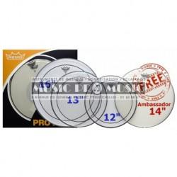 "Remo PP-0320-PS - ProPack (Pinstripe transparente 12"" 13"" 16"" + BA-0114-00 14"" gratuite)"