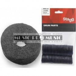 Stagg SPRF1-20 - 20 x rondelles en feutre pour cymbales