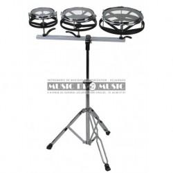 Gewa 826070 - Set de 3 Rototoms avec stand