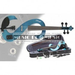Stagg EVN-44TB - Violon électrique bleu transparent 4/4 + softcase