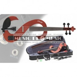 Stagg EVN-44TR - Violon électrique rouge transparent 4/4 + softcase