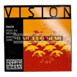 Thomastik 634155 - Jeu de cordes pour violon 3/4 Vision Med100