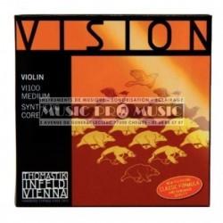 Thomastik 634175 - Jeu de cordes pour violon 1/4 Vision Med100