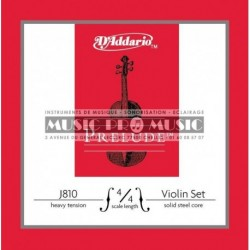 D'Addario J810-44M - Jeu de cordes pour violon 4/4 medium