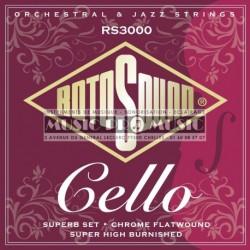 Rotosound RS3000 - Jeu de cordes pro pour violoncelle 3/4 et 4/4