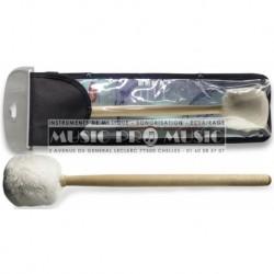 Stagg SMD-P1 - Mailloche simple en érable pour tambour de parade ou d'orchèstre - Petite