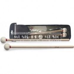 Stagg SMTIM-F35 - Mailloches timballes manche érable tête en feutre (diam.35 mm)