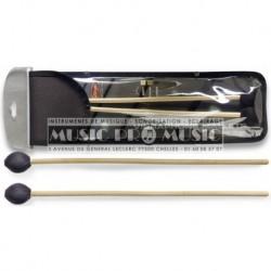 Stagg SMV-RH - Paire de mailloches en rotin pour Vibraphone - Hard