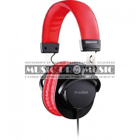 Prodipe 3000BR - Casque audio DJ noir rouge