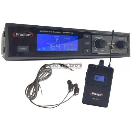 Prodipe IEM7120 - Retour casque stéréo UHF sans fil avec oreillettes