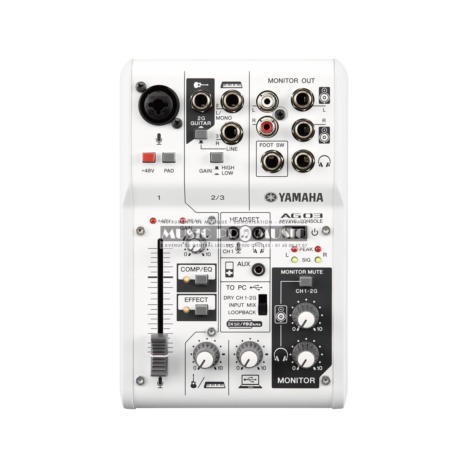 Yamaha ag03 table de mixage pour podcast et gamer 1 entr es xlr usb - Table de mixage yamaha usb ...