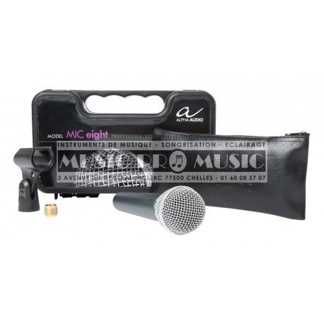 Alpha Audio 170810 - Micro chant dynamique fourni avec son câble EIGHT