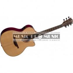 Lag T100ACE-BLK - Guitare électro-acoustique auditorium cutaway noire