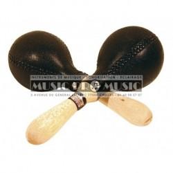 Remo RC-P003-00 - Paire de mini maracas noires modèle professionnel Crown Percussion