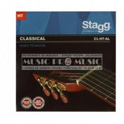 Stagg CL-HT-AL - Jeu de cordes nylon/ filée argent pour guitare classique