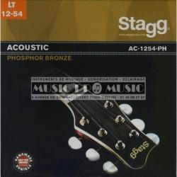 Stagg AC-1254-PH - Jeu de cordes Bronze 12-54 pour guitare acoustique