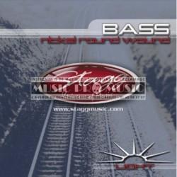 Stagg BA-4000 - Jeu de cordes pour basse light 40-100