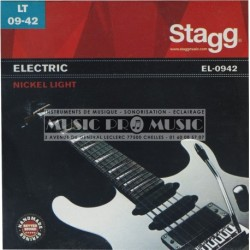 Stagg EL-0942 - Jeu cordes guitare electrique light 9-42