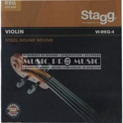 Stagg VI-REG-4 - Jeu de cordes pour violon 4/4 & 3/4 acier filé extra extra-light