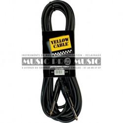 Yellow Cable ECO-GP66D - Câble instrument Eco Jack 6,35mm mâle mono 6 mètres
