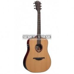Lag T100DE - Guitare électro-acoustique dread naturel