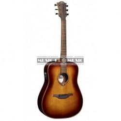 Lag T100DE-BRS - Guitare électro-acoustique dread sunburst