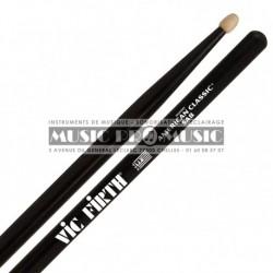 Vic Firth 5AB - Paire de baguettes noires 5A