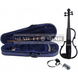Gewa GS401647 - Violon électrique 4/4 noir avec accessoires