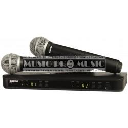 Shure BLX288E-PG58-M17 - Double micros main PG58 sans fil UHF