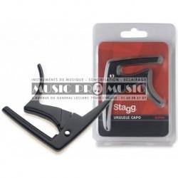 """Stagg SCPUK-BK - Capodastre type """"trigger"""" (gachette) pour ukulele acoustique/ électrique"""