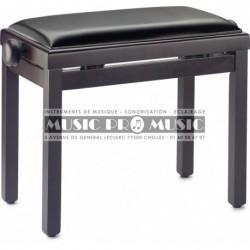 Stagg PB39-RWM-SBK - Banquette de piano couleur palissandre mat avec pelote en skai noir