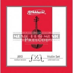 D'Addario J810-1-4M - Jeu de cordes medium pour violon 1/4