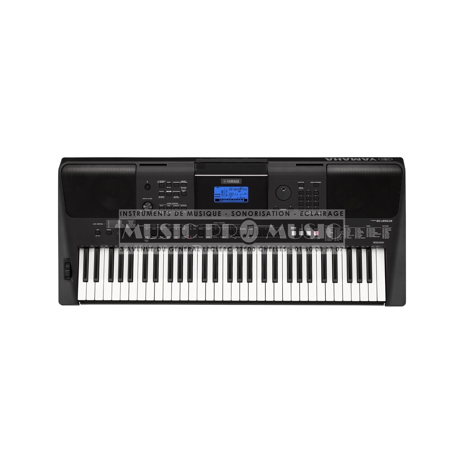 yamaha psr e453 clavier arrangeur noir avec 61 notes toucher dynamique. Black Bedroom Furniture Sets. Home Design Ideas