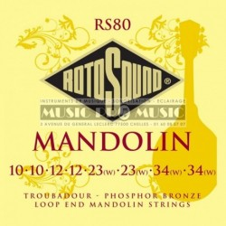 Rotosound RS80 - Cordes pour mandoline (set de 8 cordes)