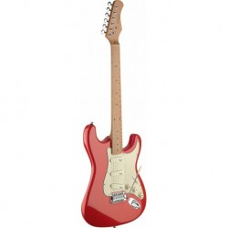 Stagg SES50M-FRD - Guitare électrique rouge type Stratocaster