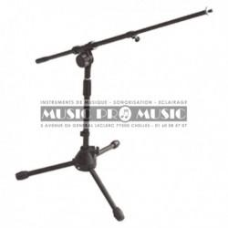 Music Pro Music MIS003-BK - Pied de micro bas à perchette télescopique