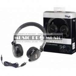 Stagg SHP-i500BKH - Casque noir portable deluxe