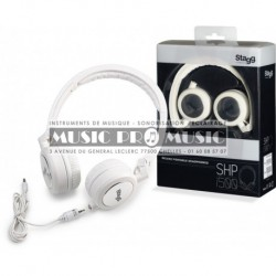 Stagg SHP-i500WHH - Casque blanc portable deluxe